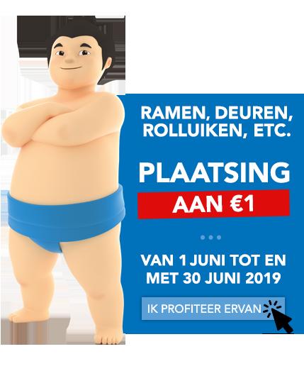 Plaatsing aan €1